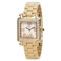 Chopard Happy Sport 27/6770 Unisex Watch in 18 Karat Yellow Gold