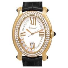 Chopard Happy Sport 27/7012-23 18 Karat Cream Dial Quartz Watch