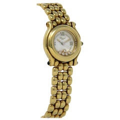 Chopard Happy Sport 277-6150-23 18 Kt Yellow Gold 115 Grams 5 Floating Diamonds
