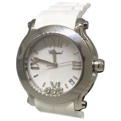 Chopard Happy Sport Stainless Steel Diamond Ladies Watch 27/8475-3016