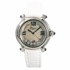 Chopard Happy Sport 8347 Womens Quartz Watch Mother of Pearl Dial Stainless