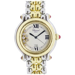 Chopard Happy Sport, Diamonds and Rubies, Steel and 18 Karat Gold Ladies Watch