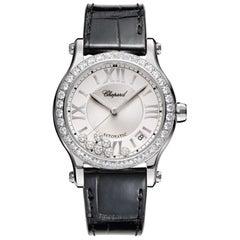 Chopard Happy Sport Diamond Automatic Ladies Watch 278559-3003