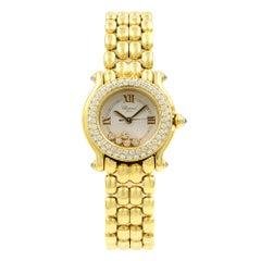 Chopard Happy Sport Floating Diamonds 18K Gold Ladies Quartz Watch 27/6151-20