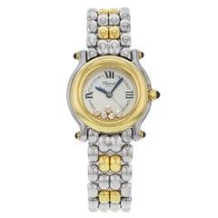 Chopard Happy Sport Floating Diamonds Steel Yellow Gold Ladies Watch 278256-4008