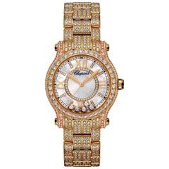 Chopard Happy Sport Happy Diamond Ladies Watch 274302-5002