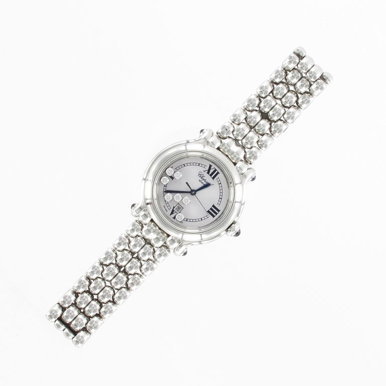Modern Chopard Happy Sport Happy Diamond Ladies Watch 278236-3005