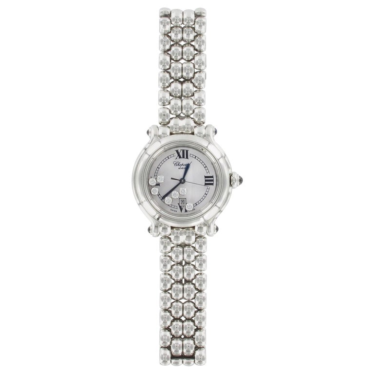 Chopard Happy Sport Happy Diamond Ladies Watch 278236-3005