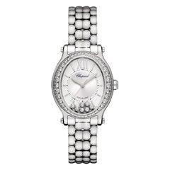 Chopard Happy Sport Oval Diamond Ladies Watch 278602-3004