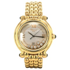 Chopard Happy Sport Ref. 27/6137-23 in 18 Karat Yellow Gold