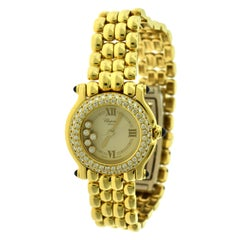 Chopard Happy Sport Ref. 276151-23 18 Karat Yellow Gold Diamond Watch