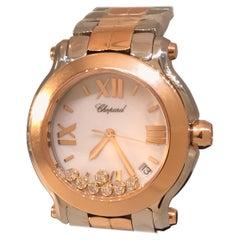 Chopard Happy Sport Round Two-Tone Diamond Ladies Watch 27/8488-9001