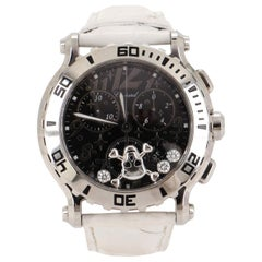Chopard Happy Sport Skull Chronograph Round Quartz Watch Stainless Steel and All