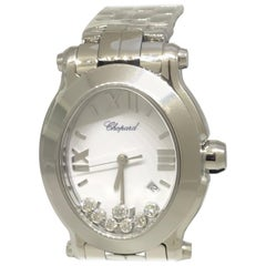 Chopard Happy Sport Stainless Steel Diamond White Dial Ladies Watch 27/8546-3003