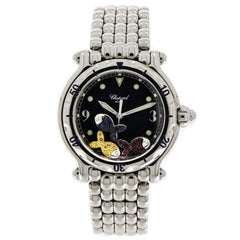 Chopard Happy Sport Stainless Steel Wristwatch with Bejeweled Fish