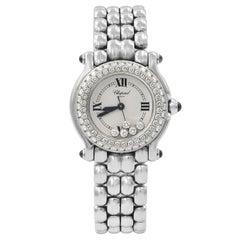 Chopard Happy Sport Steel Floating Diamonds Dial Ladies Quartz Watch 27/8294-23