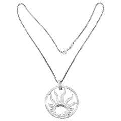Chopard Happy Sun Diamond Large White Gold Pendant Necklace