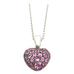 Chopard Heart Necklace with Pink Sapphire 79/4203/57W