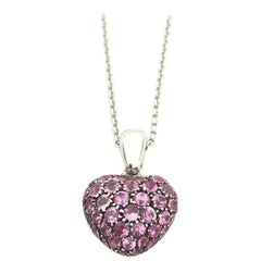 Chopard Heart Pink Sapphire Necklace 79/4203/57W