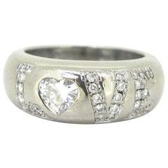 Chopard Heart Shape 0.40 Carat Diamond Love White Gold Band Ring