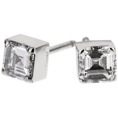 Chopard Ice Cube .96 Carat Square Cut Diamond Stud Earrings