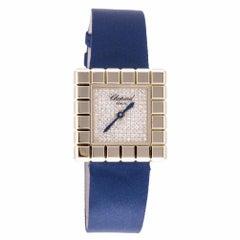 Chopard Ice Cube by De Grisobono Womens Quartz Watch 18k Solid Yg Diamond Dial