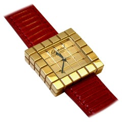 Chopard Ice Cube Gold and Leather Watch