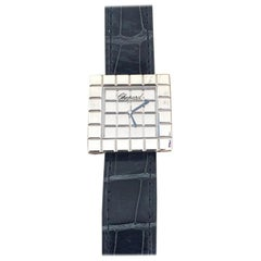 Chopard Ice Cube Large White Gold Ladies Watch 12-7424-8W