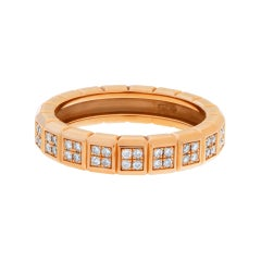 """Chopard """"Ice Cube Pure"""" Eternity Ring in 18k Rose Gold with Diamonds"""