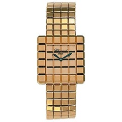 Chopard Ice Cube Yellow Gold Ladies Watch 117407-0001
