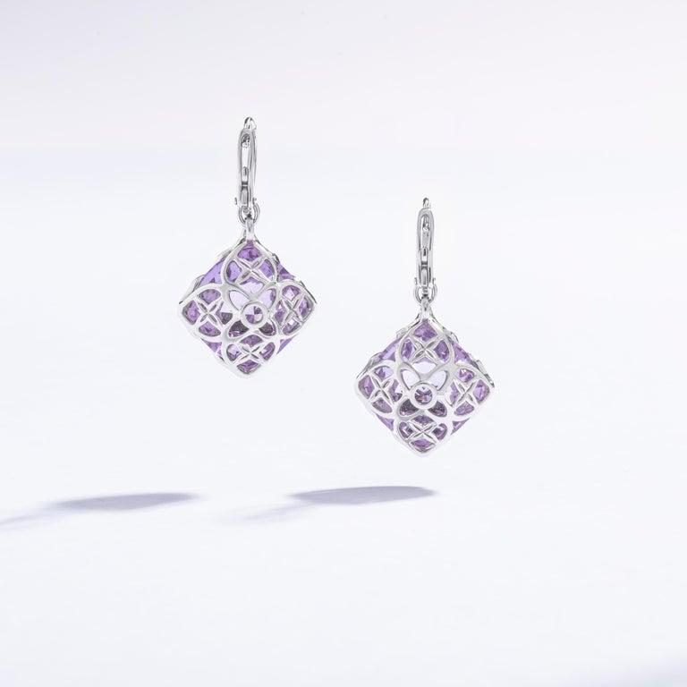 Women's Chopard Imperiale Amethyst Diamond white Gold  Earrings For Sale