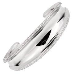 Chopard Imperiale Diamond White Gold Cuff Bangle Bracelet