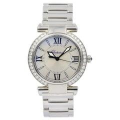 Chopard Imperiale Silver Dial with Diamond Bezel Quartz Watch, 388541-3004