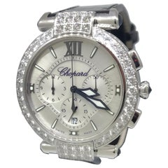 Chopard Imperiale White Gold Diamond Ladies Chronograph Watch 38/4211 New