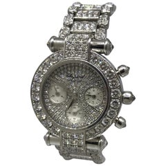 Chopard Imperiale White Gold Pavé Diamond Chronograph Bracelet Ladies Watch