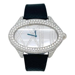 Chopard Jewelry Watch, White Gold Set with Diamonds