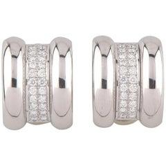 Chopard La Strada 18 Karat White Gold and Diamond Clip-On Earrings