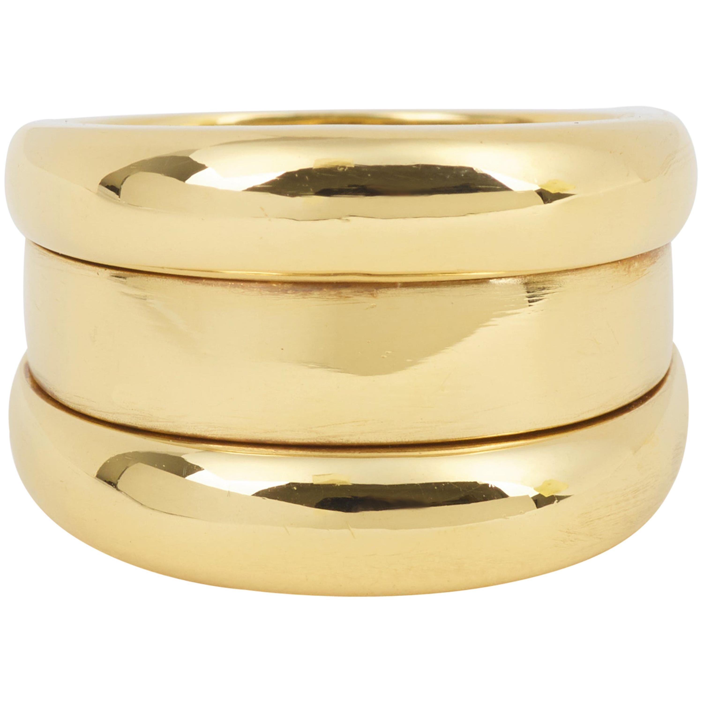 "Chopard ""La Strada"" 18 Karat Yellow Gold Ring"