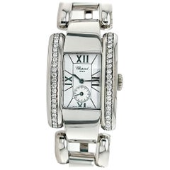 Chopard La Strada Ladies in Steel with Partial Diamond on Bezel