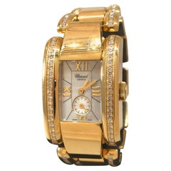 Chopard La Strada Yellow Gold and Diamond Bracelet Ladies Watch 41/6916 New