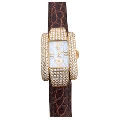 Chopard La Strada Yellow Gold and Diamond Ladies Watch 41/6847