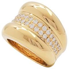 Chopard 'La Strada' Yellow Gold and Diamond Ring
