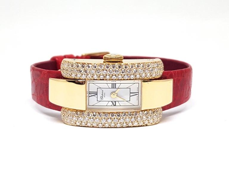 Chopard La Strada Yellow Gold White Diamonds Watch 4