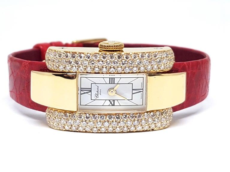 Chopard La Strada Yellow Gold White Diamonds Watch 5