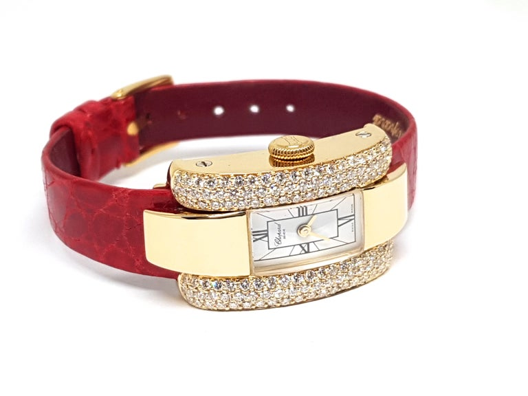 Chopard La Strada Yellow Gold White Diamonds Watch 8