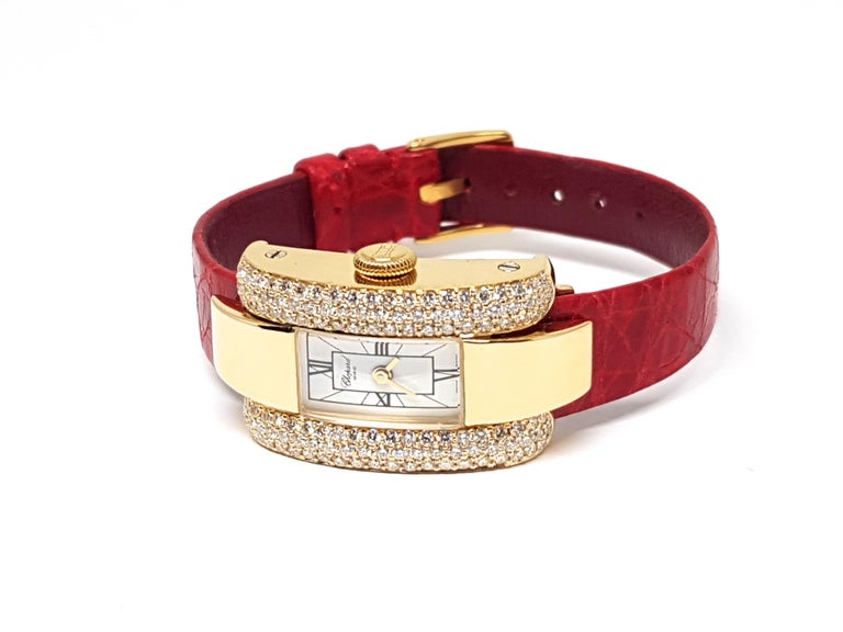 Chopard La Strada Yellow Gold White Diamonds Watch 9