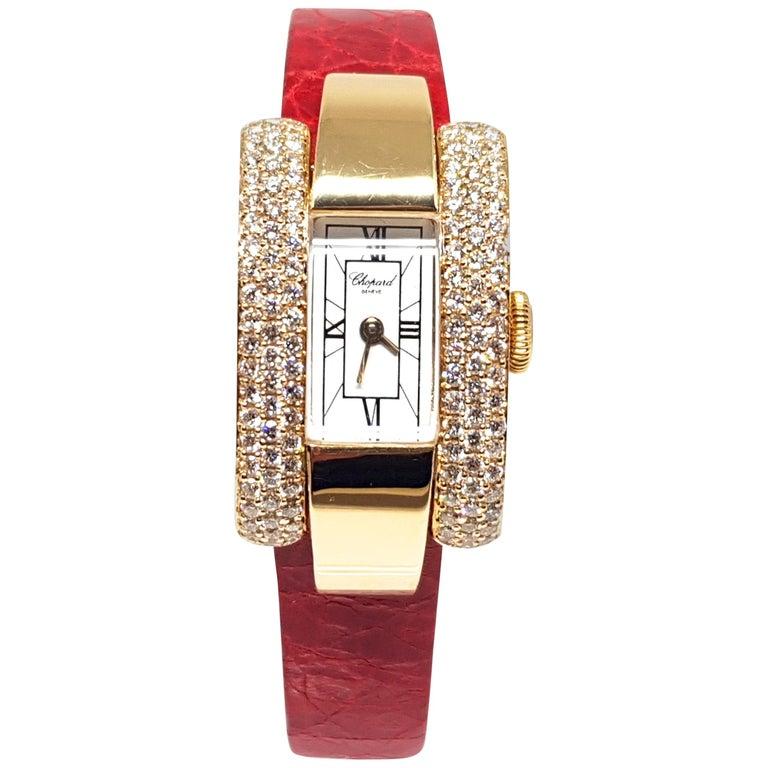 ddc2b48f51ea5 Chopard La Strada Yellow Gold White Diamonds Watch For Sale at 1stdibs