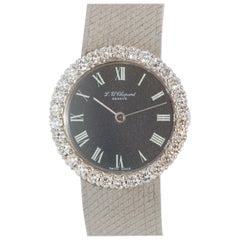 Chopard Ladies 18 Karat White Gold Wristwatch with Diamonds