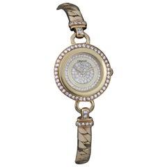 Chopard Ladies Full 18 Karat Yellow Gold Wristwatch with Diamonds