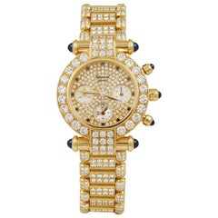 Chopard Ladies Gold Diamond Sapphire Watch